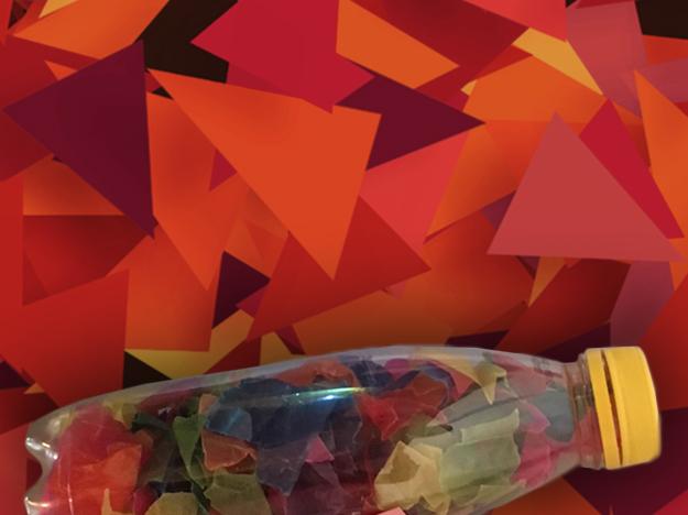Bastelideen für den Herbst von Pebaro - Schmetterlingslaterne - Schnipsel aus Pergamentpapier