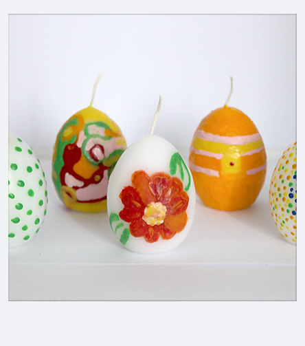 Easter decoration with Pebaro - Paint easter candles