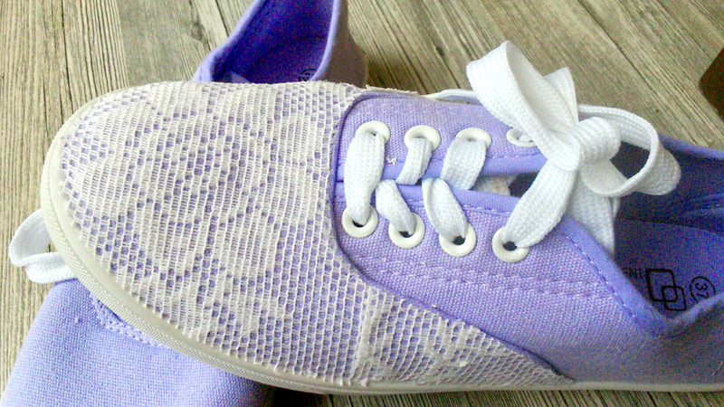 Finished embellished Shoes following an Idea by Pebaro