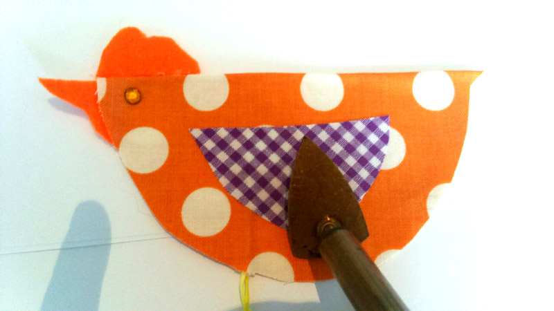 Spring Crafting - Ironing the Fabric Birds