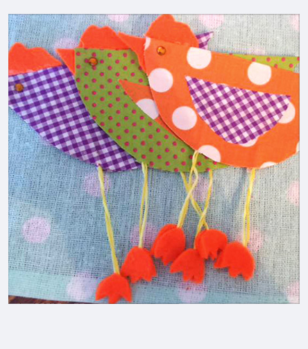 Spring Crafting - Colourful Birds