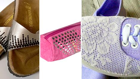 Textile embellishment with Pebaro
