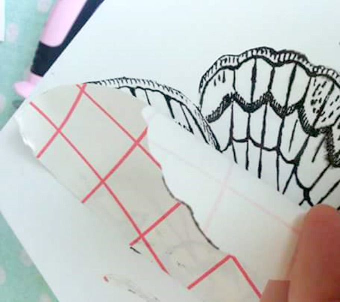 Print the Motif off the Transfer Paper on the Jewelry Box