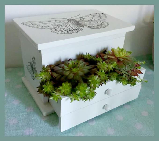 DIY Deko Blumekästchen