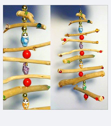 Craft ideas for Christmas - Wood Christmas decorations