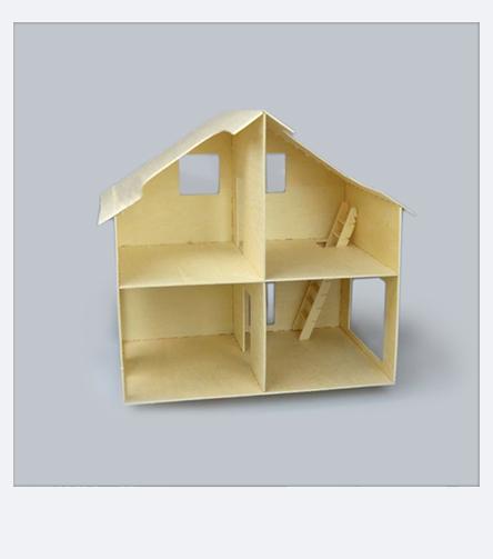 Laubsägevorlage Aufbauanleitung für Puppenhaus