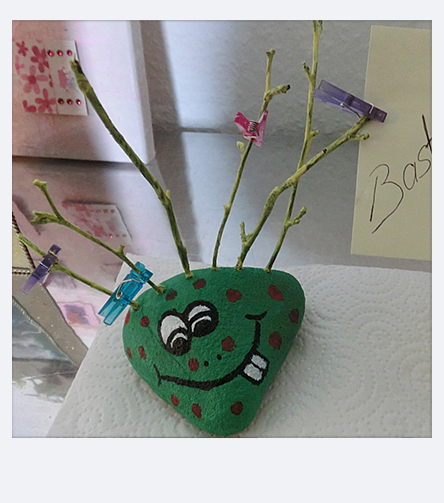Make stone monster with branches and the Hobby Drill by Pebaro